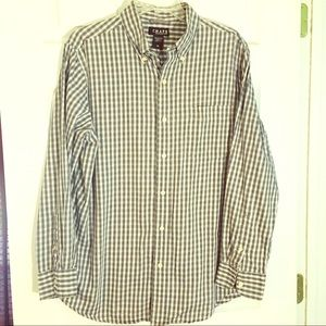 CHAPS cotton plaid shirt M